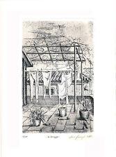 Delianuova Acquaforte incisione su rame stampa calcografica su cotone Leo Sergi
