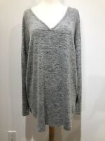 Staccato Heather Gray Tunic Top Womens Size L Lightweight Stretch Knit