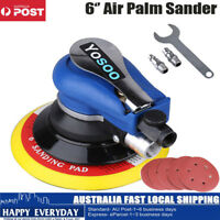 6'' Air Random Orbital Palm Polisher Sander & 5 Sandpaper Vacuum Pneumatic 150mm