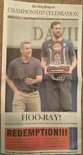 Virginia UVA Basketball National Champions Special Daily Progress 4/14 Newspaper