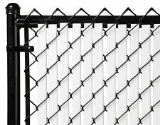 Chain Link White Double Wall Tube™ Privacy Slat For 3ft High Fence Bottom Lock