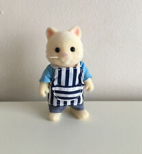 Sylvanian Families Chantilly Cat Figure Barbeque Chef 👨�� Vgc