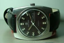 Vintage Favre Leuba Duomatic Auto Day Date Mens Swiss Y901 Wrist Watch Old Used