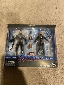 Marvel Legends Avengers Endgame Hawkeye and Black Widow Target 2 Pack NEW