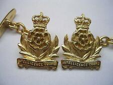 New 9ct Gold Men's INTELLIGENCE CORPS Regiment Men's Cufflinks. Excellent