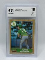 1987 Topps Mark McGwire #366 BCCG GEM MINT 10 Oakland Athletics. MUST SEE!