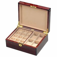 Cufflink Gents Valet Box by Hillwood Rrp£280 Makah Burlwood Veneer 4 Watch / 24