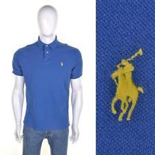 RALPH LAUREN VTG 90s Polo T Shirt L Cotton Blue Indie/Mod/Skinhead Top 1990s