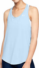 Under Armour HeatGear Mesh Back Womens Training Vest Tank Top - Blue