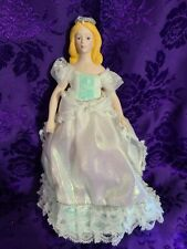 """Avon 1989 Fairy Tale Porcelain Doll Collection """"Princess"""" with stand"""
