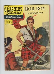 Classics Illustrated First Print #118. Rob Roy, HRN 119,  Very Good Collectible!
