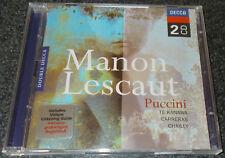 PUCCINI-MANON LESCAUT-2xCD 1999-CHAILLY/TE KANAWA/CARRERAS-MINT