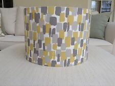 Handmade Lampshade Clarke And Clarke 'Sundowner' Yellow, Mustard, Saffron, Grey