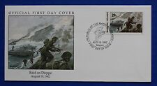 Marshall Islands (322) 1992 WWII: Dieppe Raid Official FDC