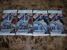 SEALED Star Wars Pocketmodel GROUND ASSAULT x4 Game Pack trading card game TCG