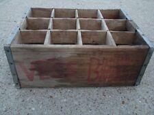 1966 Vess St Louis MO Billion Bubble Beverages Wood Crate Box good for decor