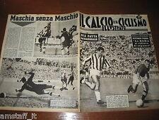 IL CALCIO E CICLISMO ILLUSTRATO 1961/38=NICOLE' LOSI=ROMA JUVENTUS=ATALANTA=
