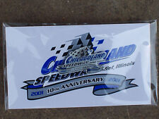 NASCAR Chicagoland 10th Anniversary Pins 9-15-2013