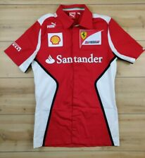 F1 FORMULA 1 Team FERRARI SHELL PUMA Red SHIRT SIZE Small ITALY SANTANDER RARE!!