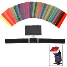 30 Filtres Couleur Kit avec Barndoor Réflecteur pour Type Speedlite Flash Cobra