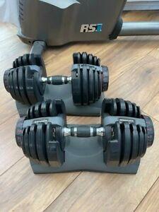 Bowflex Pair of Adjustable Dumbbells 2kg-21kg Very Good condition RRP £500