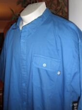 NWT ECKO UNLTD BLUE S/S FULL BUTTONED DRESS SHIRT SZ:3XB 3XL 3X XXXL