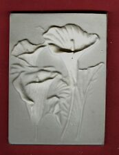 Flower tile #3: Calla lily pla 00004000 ster of paris painting project. Single tile.