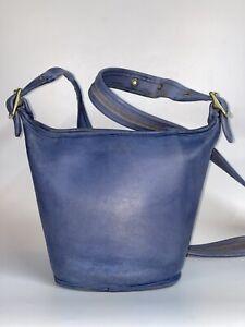 Vtg Coach Rare Periwinkle Blue 9019 Mini Maggie Zip Top Bucket