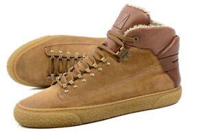 LOUIS VUITTON FUR suede sneakers lace up Italy UK9/ US10 /43 shoes men Authentic