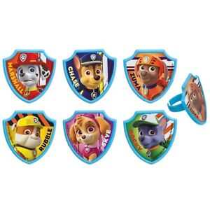 30 PAW Patrol Cupcake Toppers Cake Topper Decorations Birthday Party Supplies