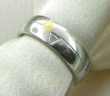 Coge Design Group Platinum & 24K Gold Wedding Band Ring With Diamonds 0.21tcw