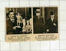 1920 Sir Walter de Frece unionista del candidato Ashton bajo Lyme con ALD amarilla