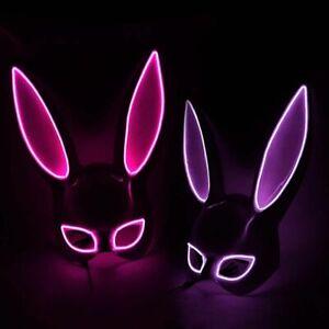 Carnival EL Wire Bunny Mask Masque  Masquerade Led Rabbit Mask Night Club