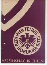 Tennis Borussia Berlin - Vereinsnachrichten - Juni / Juli / August 1958