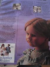 1pg Annette Himstedt KATHE Doll Ad /BAREFOOT CHILDREN Advertisement ONLY