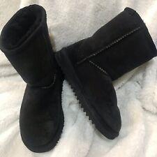 Kids sheepskin black boots size 1