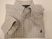 Ralph Lauren Mens Long Sleeve Shirt Blake Two Ply Check L Large