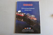 W969BEMO Train CatalogueVoie etroite Schmalspurbahnen 1994 95 29,8* 21 F D S