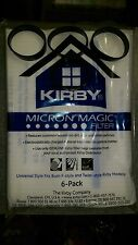 3 BELTS to fit Kirby 6 F STYLE Cloth OEM SEALED Bags White Sentria Vacuum