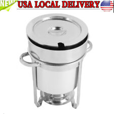 7L Capacity Deluxe Round Soup Warmer Chafer Marmite Stainless Steel Chafing Dish