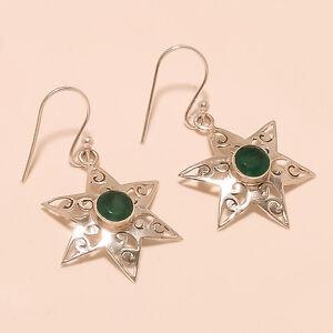 3.10 Gm 925 Solid Sterling Silver AAA+++ Emerald Cut Stone Fine Earring i-2120