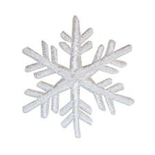 ID 8132 Snowflake Patch Winter Christmas Snow Ice Embroidered Iron On Applique
