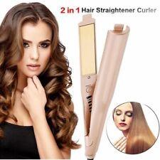 2 en 1 cheveux Curler Lisseur Curling céramique fer plat 5-Led Iron Pro 2in 1