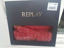 Set Mütze und Handschuhe von Replay rot Glitzereffekt 70€ NP