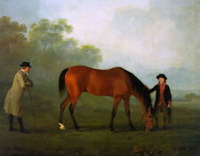 """high quality oil painting handpainted on canvas """"two men and a horse""""@NO9969"""