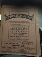 Gibbons Skinner & Co 1965 ironmongery catalogue tractor brochure