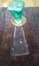 Beautiful Hand Crafted Decanter (Rainbow Glass) Made In Italy (Original Label)