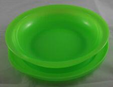 Tupperware Junge Welle 700 ml Schale mit Teller / Deckel Neon Grün Neu OVP