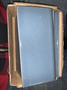 """Lot of 10 Blue   Allen + Roth  Bullnose Wall  Subway Tile #1029744 3""""x6"""""""