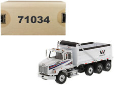 Western Star 4700 SB Dump Truck White 1/50 Diecast Model by Diecast Masters